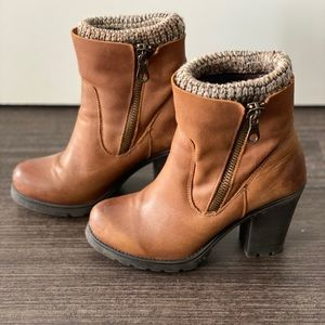 Steve Madden Chunky High heel leather boots, lined